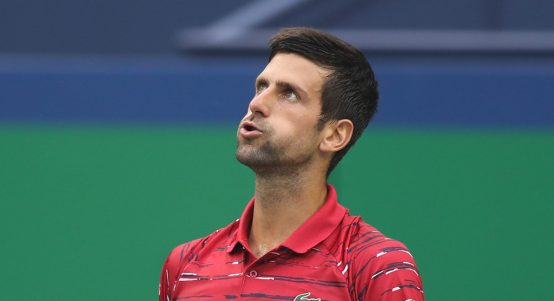 Novak Djokovic takes a breather