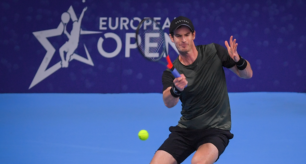 Andy Murray forehand at European Open