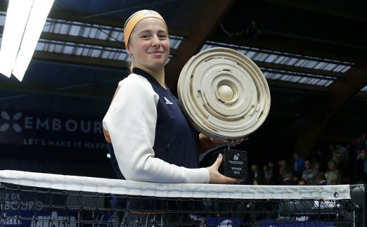 Jelena Ostapenko with Luxembourg Open title