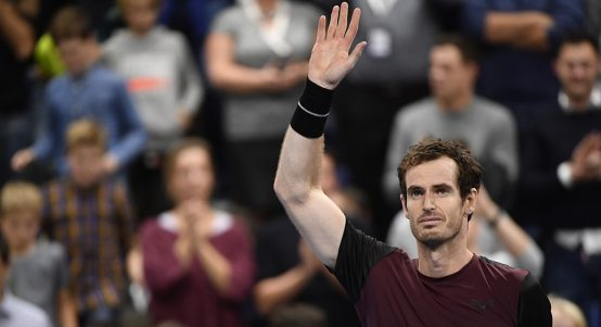 Andy Murray salutes Antwerp crowd
