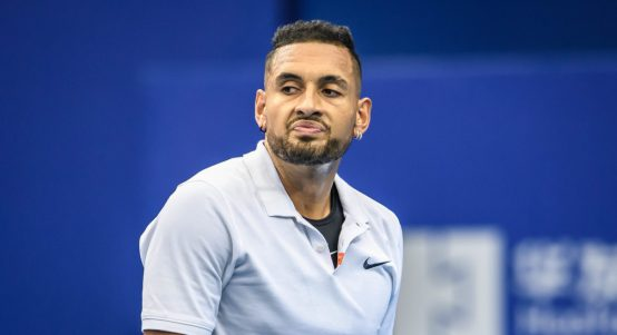 An unimpressed Nick Kyrgios