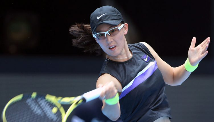 Zheng Saisai - impressing at WTA Elite Trophy