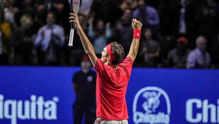 Roger Federer at Swiss Indoors