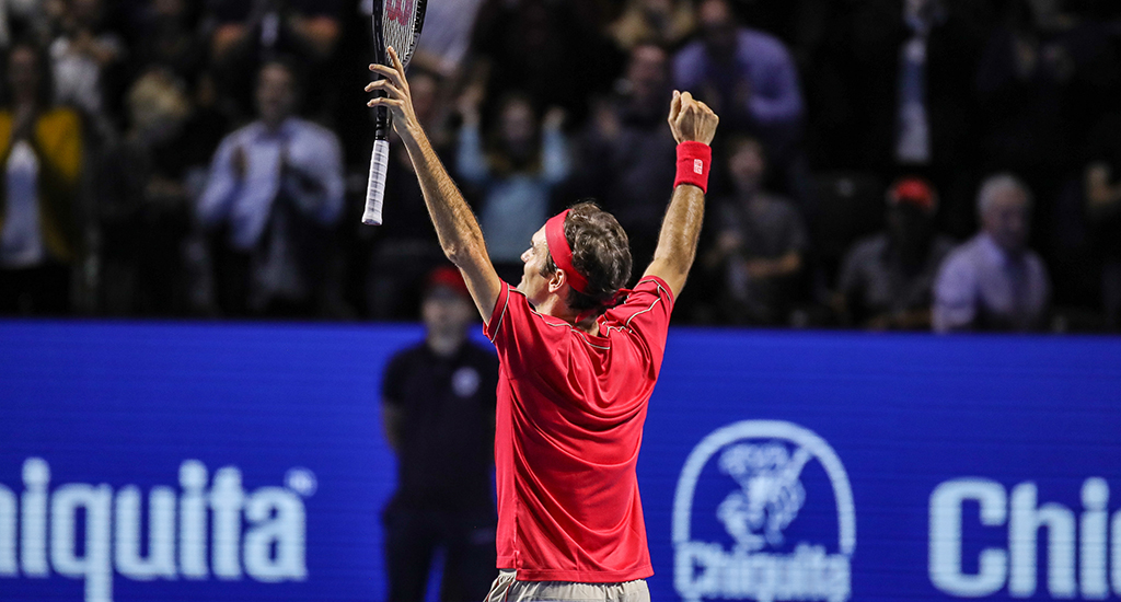 Roger Federer at Swiss Indoors