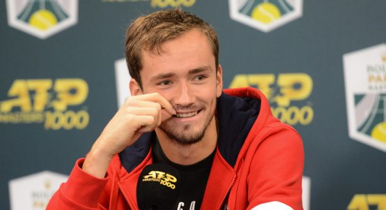 Daniil Medvedev... press conference