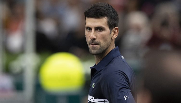 Novak Djokovic at Paris Masters