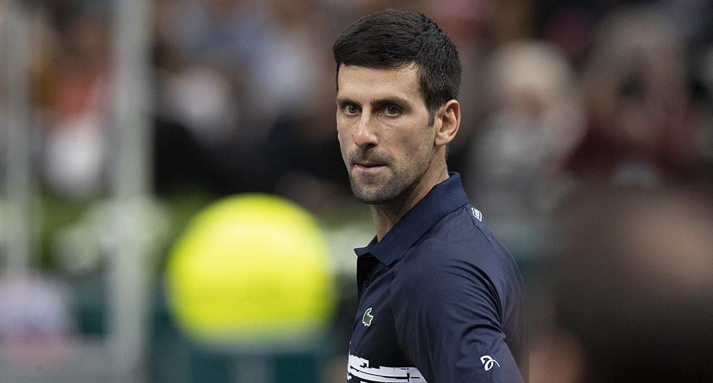 Novak Djokovic at Paris Masters