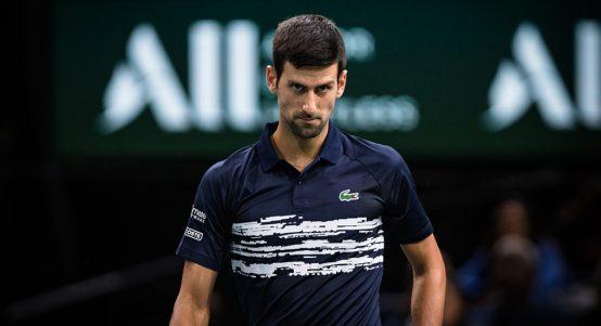 Novak Djokovic meaning business