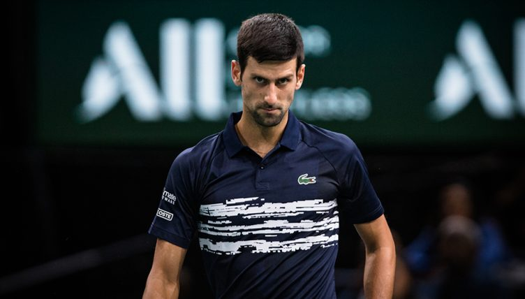 Novak Djokovic meaning business
