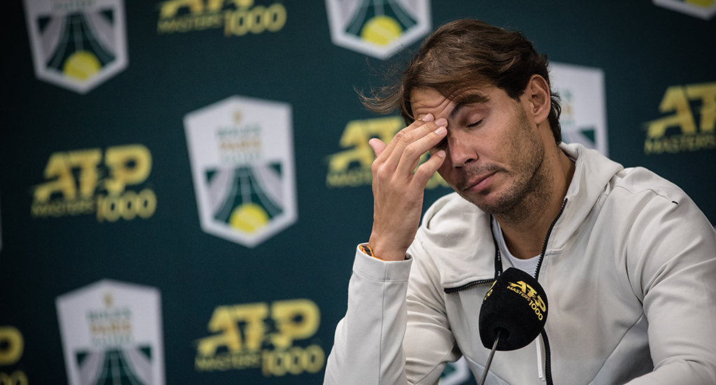 Rafael Nadal disappointed at press conference