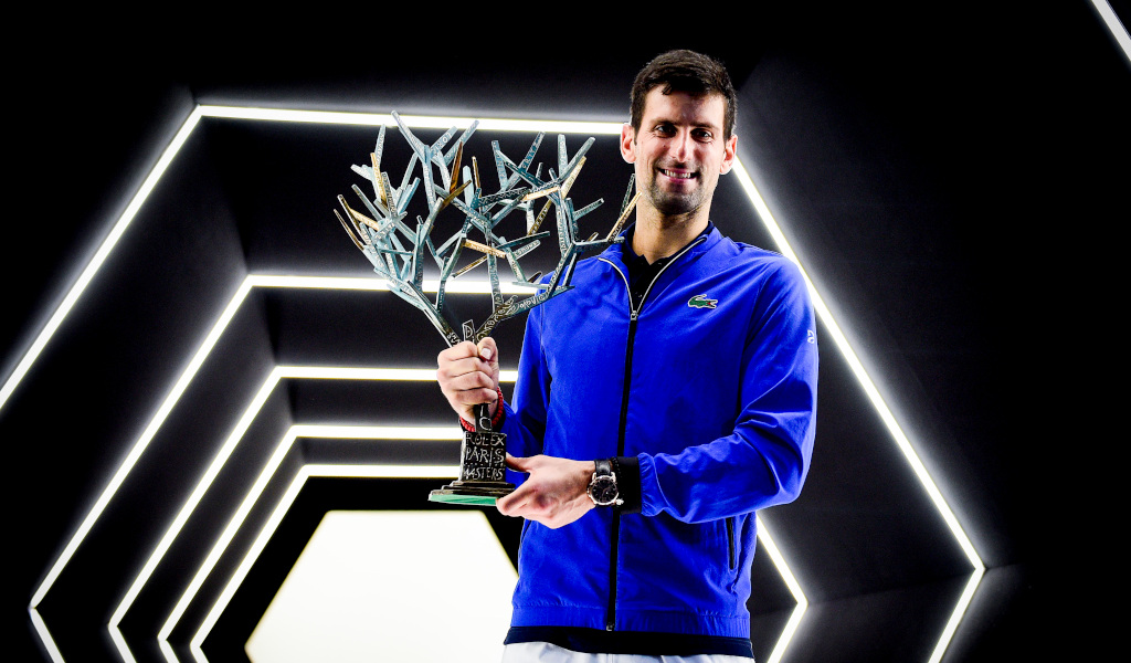 Novak Djokovic Paris Masters trophy