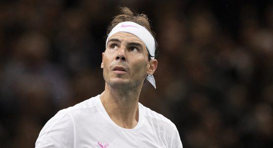 Rafael Nadal competing