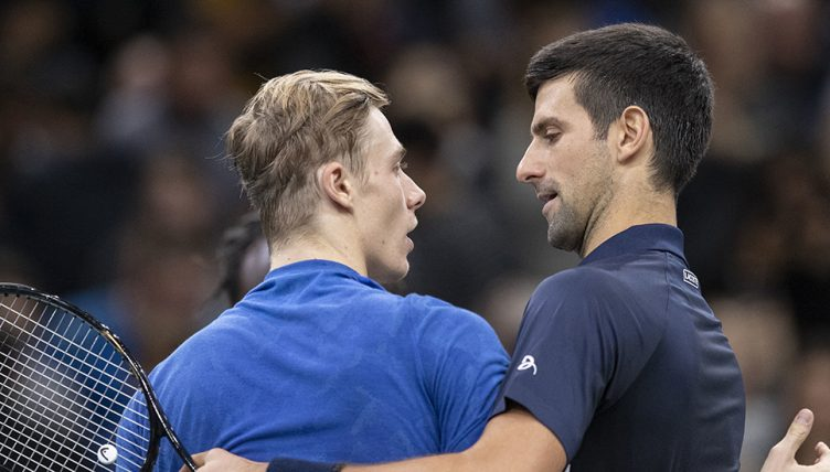 Novak Djokovic and Denis Shapovalov
