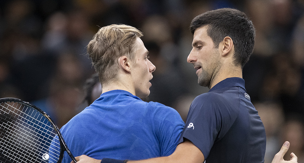 Novak Djokovic and Denis Shapovalov