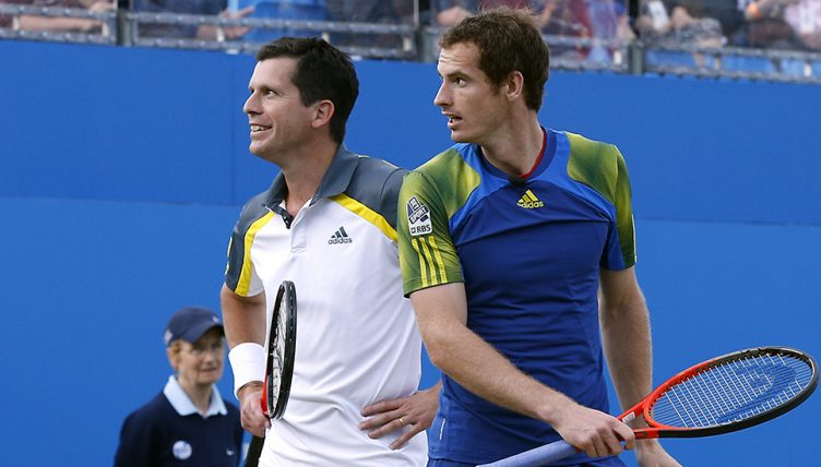 Andy Murray and Tim Henman