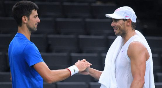 Novak Djokovic and Rafael Nadal shaking on it