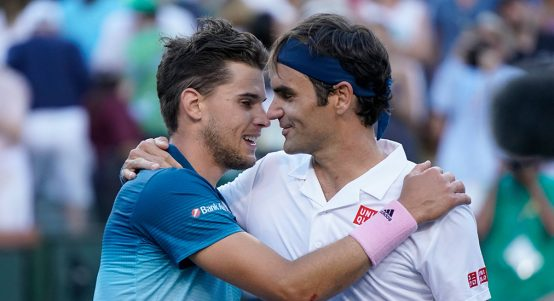 Dominic Thiem and Roger Federer