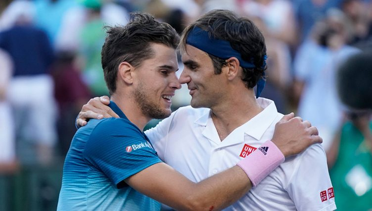 Roger Federer congrats Dominic Thiem on his US OPEN championship