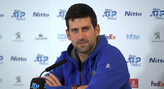Novak Djokovic ATP Finals press conference