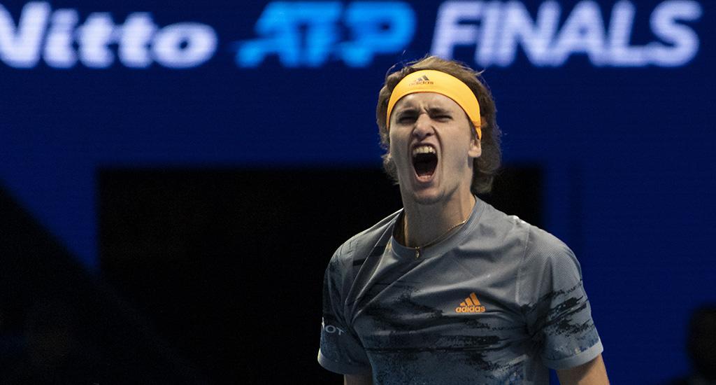 Alexander Zverev roars at ATP Finals