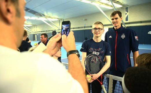 Jamie Murray Davis Cup training event