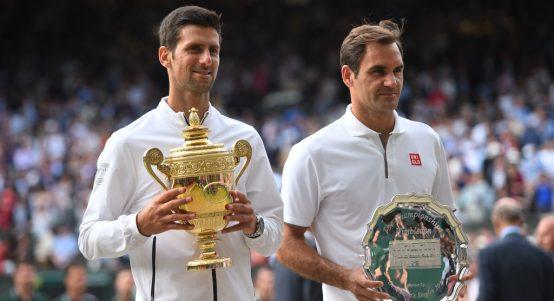 Novak Djokovic and Roger Federer Wimbledon final