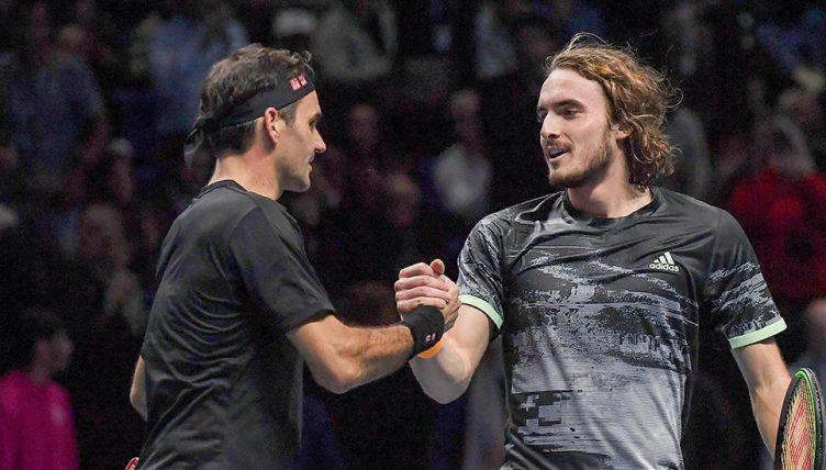 Roger Federer and Stefanos Tsitsipas