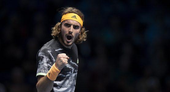 Stefanos Tsitsipas roars at ATP Finals