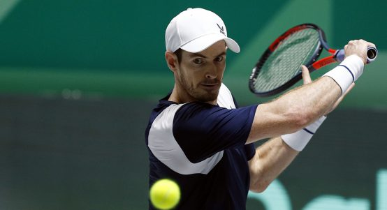 Andy Murray backhand at Davis Cup