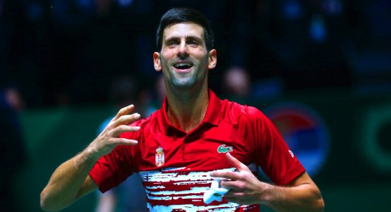 Novak Djokovic Davis Cup celebrations