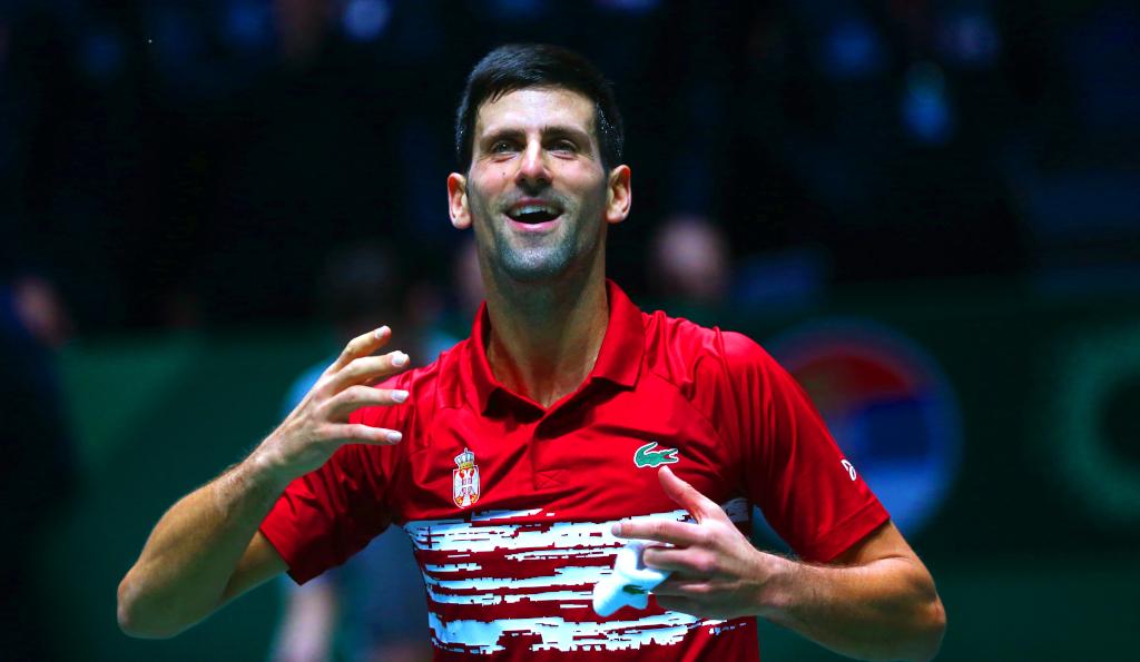 Novak Djokovic Davis Cup celebrations