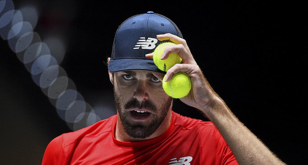 Reilly Opelka at Davis Cup