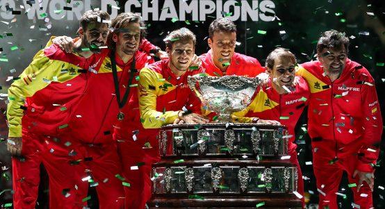 Spain and Rafael Nadal celebrate Davis Cup win