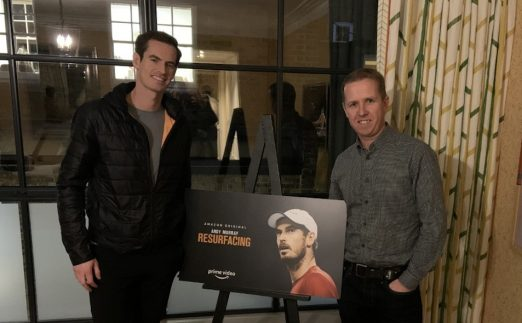 Andy Murray and Kevin Palmer at 'Resurfacing' premiere