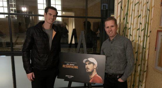 Andy Murray and Kevin Palmer at 'Resurfacing' premiere