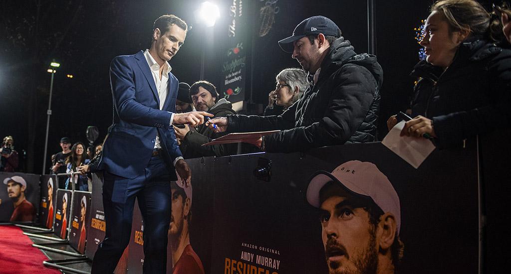 Andy Murray Resurfacing red carper