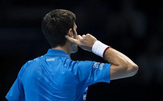 Novak Djokovic cups ear to London crowd