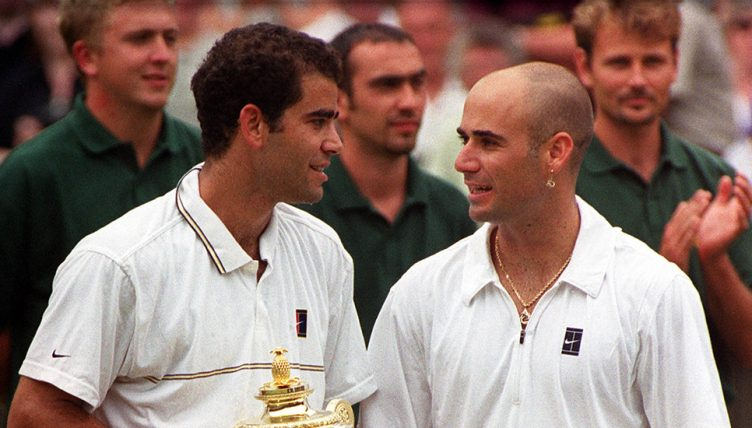 Pete Sampras and Andre Agassi - golden age of American tennis