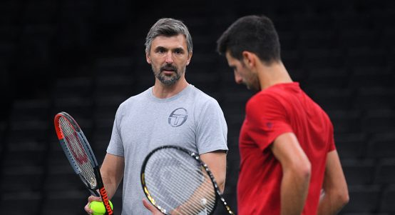 Novak Djokovic and Goran Ivanisevic