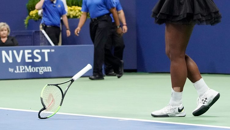 Serena Williams smashed racket
