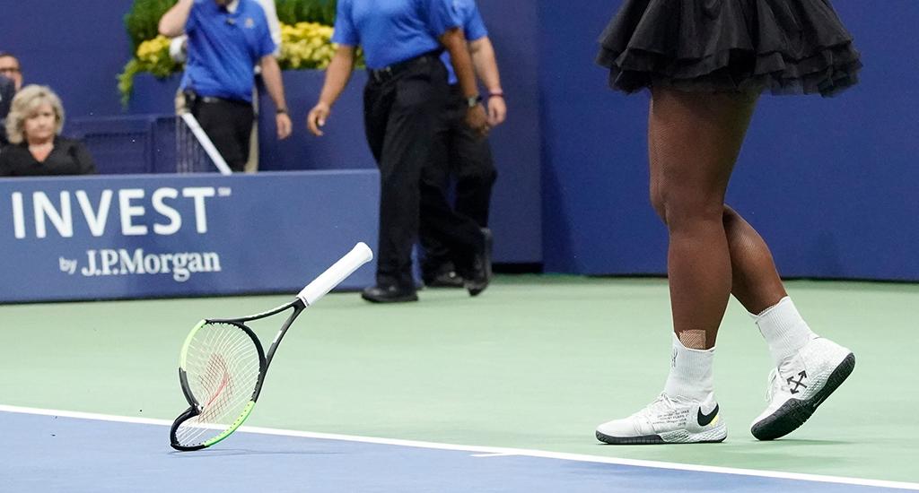 Serena Williams smashed racket