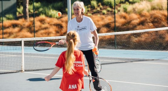 Judy Murray and Ana Palmer at The Campus