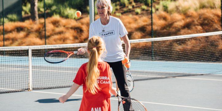 Judy Murray and Ana Palmer at The Campus