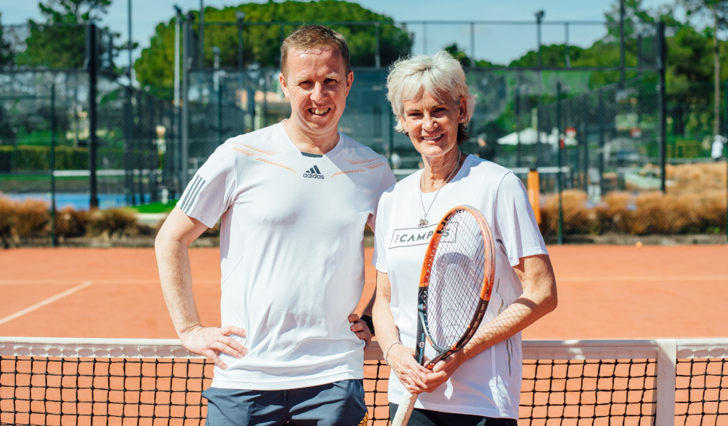 Kevin Palmer and Judy Murray at The Campus