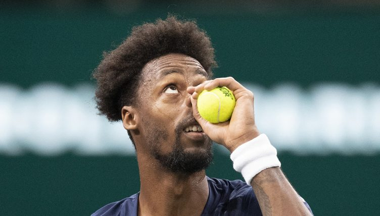 Gael Monfils looking up