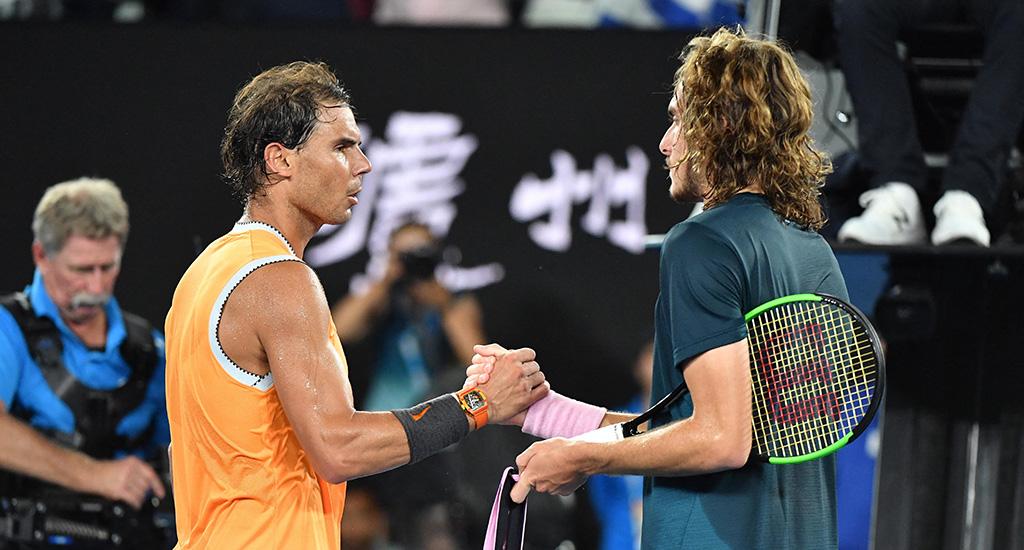 Rafael Nadal and Stefanos Tsitsipas