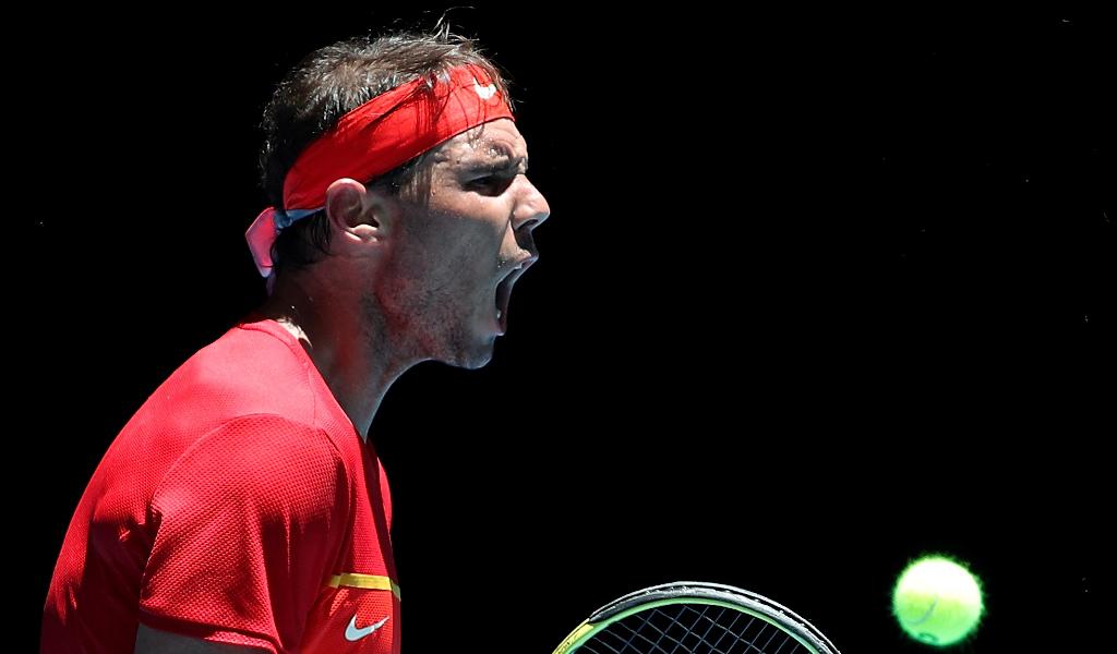 Rafael Nadal screaming