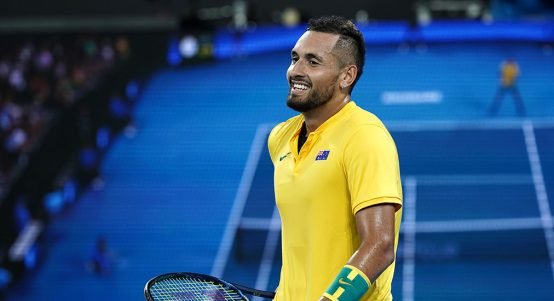 Nick Kyrgios at ATP Cup