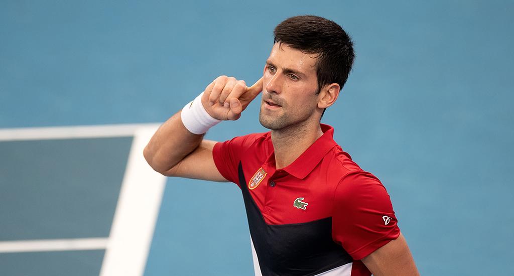 Novak Djokovic at ATP Cup