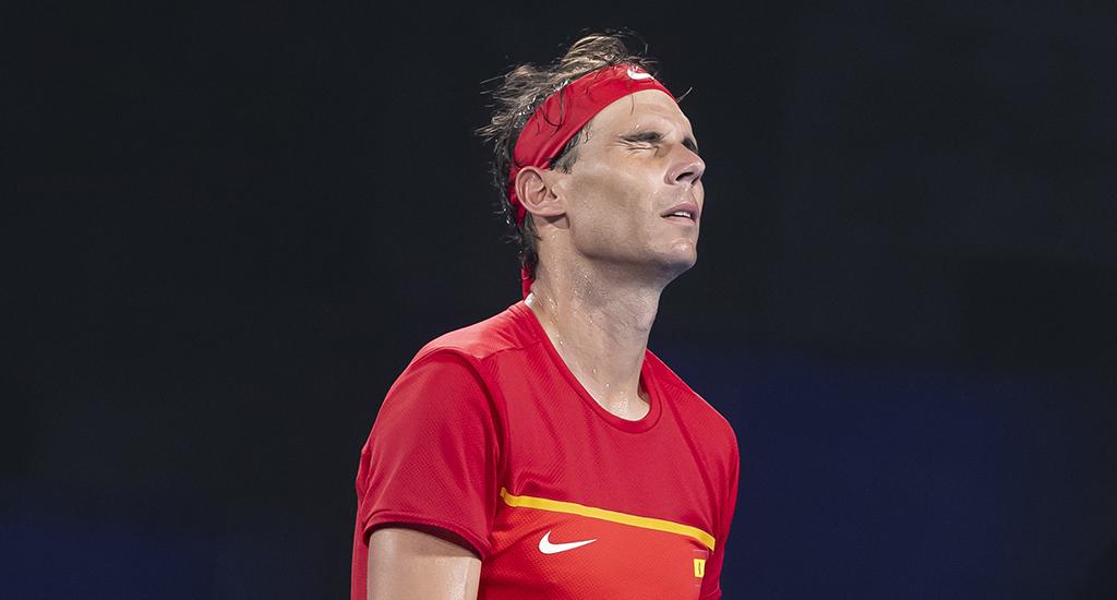 Rafael Nadal suffering at ATP Cup
